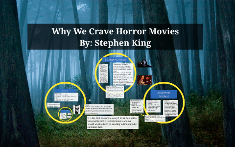 stephen king why we crave horror movies essay
