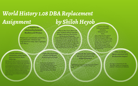 World History 1 08 DBA Replacement Assignment by Shiloh