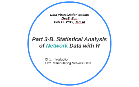 Part 3-B  Statistical Analysis of Network Data with R by Eun