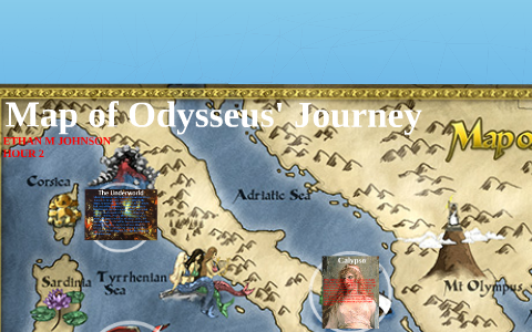 Map of Odysseus' Journey by Ethan Johnson on Prezi Map Of Odysseus Voyage on map voyage of aeneas, map of ulysses voyage, map of christopher columbus voyage, map odysseus voyage home, map of pilgrims voyage,