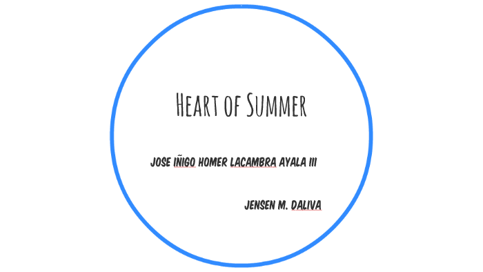 the heart of summer by jose ayala