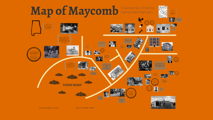 Map of Maycomb by Cristy Hernandez on Prezi