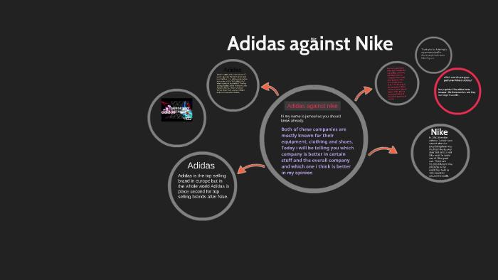 new concept ba735 1641c Adidas Against Nike by Jameel baluchi on Prezi