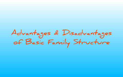 Advantages & Disadvantages of Basic Family Structures by