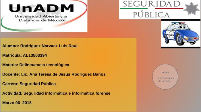 Jesus Rodriguez Banos.Seguridad Informatica E Informatica Forence By Luis Raul