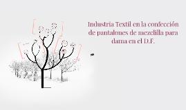 Industria Textil En La Confeccion De Pantalones De Mezclilla By Elizabeth Martinez