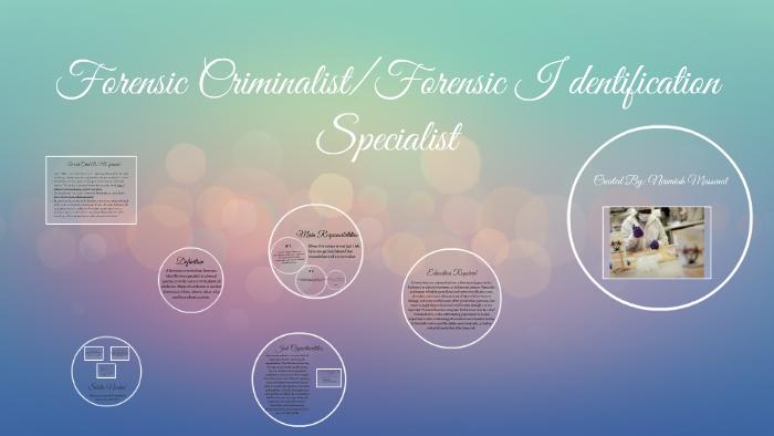 Forensic Criminalist Identification Specialist By Neumiah Massenat
