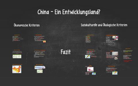 China entwicklungsland