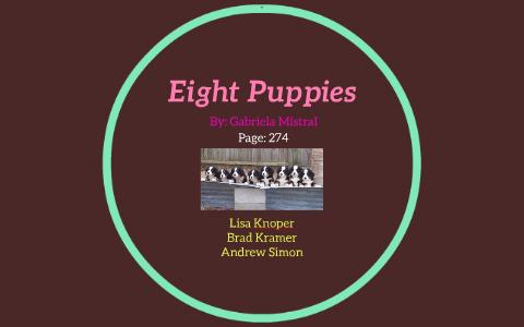 eight puppies poem