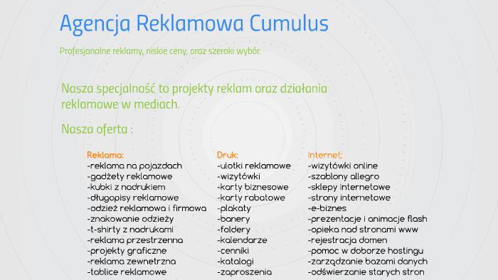 Agencja Reklamowa Cumulus By Oczkowiczus Markowiczus On Prezi