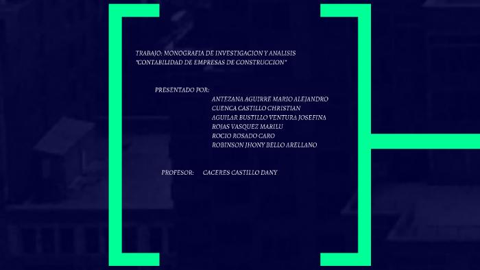 Trabajo Monografia De Investigacion Y Analisis By Kenny