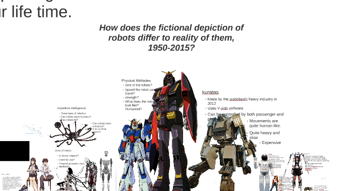 How does the fictional depiction of robots differ to reality