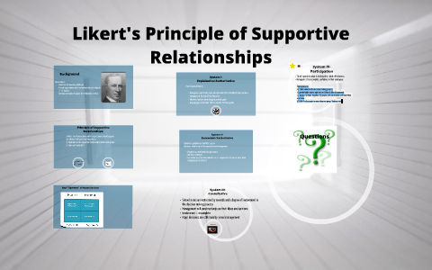 What is supportive relationships