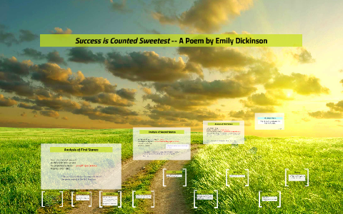 success is counted sweetest summary
