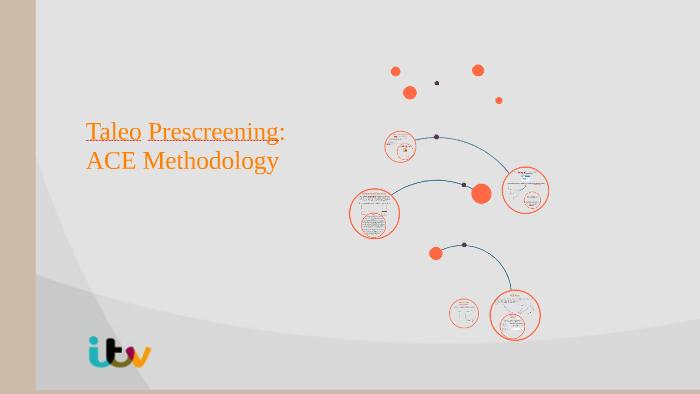 Taleo Prescreening: ACE methodology by Irene Lopez on Prezi
