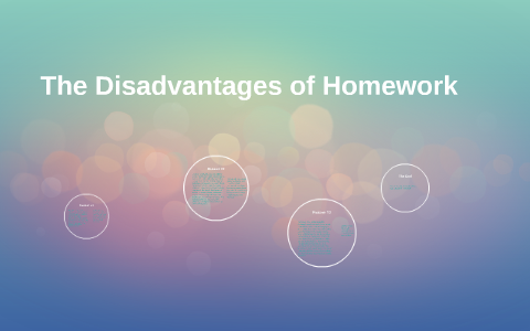 homework disadvantages