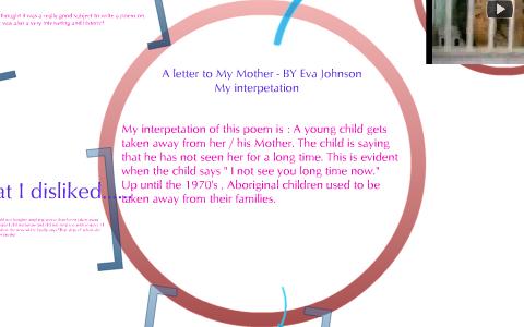 A letter to my Mother - Eva Johnson by lara barrett on Prezi