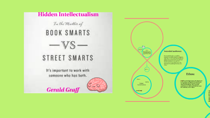 hidden intellectualism gerald graff they say i say