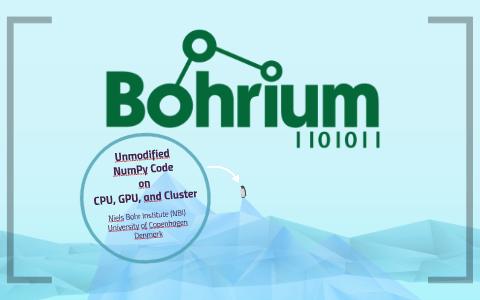 Bohrium: Unmodified Python/NumPy Code on CPU, GPU, and Clust