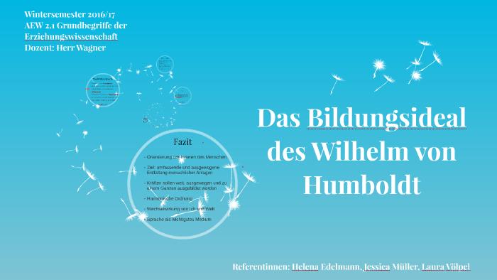Das Bildungsideal Des Wilhelm Von Humboldt By Helena