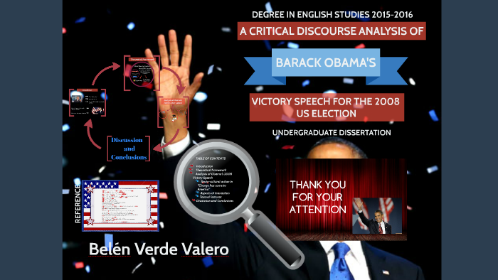 A CRITICAL DISCOURSE ANALYSYS OF BARACK OBAMA'S VICTORY