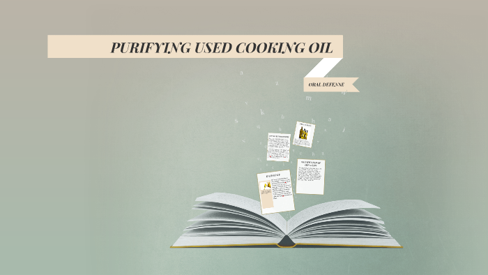 benefits of purifying used cooking oil