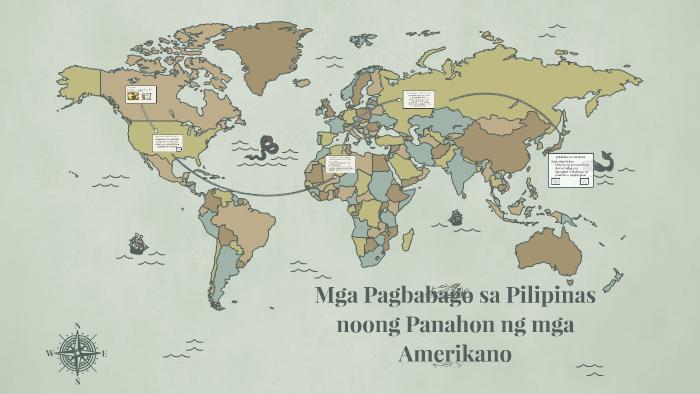 Mga Pagbabago sa Pilipinas noong Panahon ng mga Amerikano by