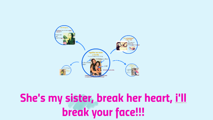 Shes My Sister Break Her Heart Ill Break Your Face By
