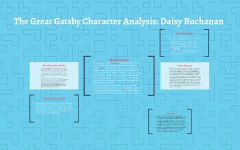 The Great Gatsby Character Analysis Daisy Buchanan by