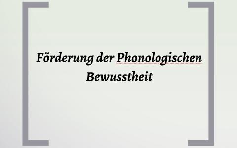 phonologisches bewusstsein fördern