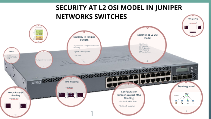SECURITY AT L2 OSI MODEL IN JUNIPER NETWORKS SWITCHES by