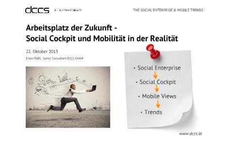 Arbeitsplatz der Zukunft - Social Cockpit und Mobilität in