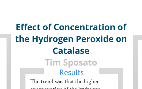 catalase concentration