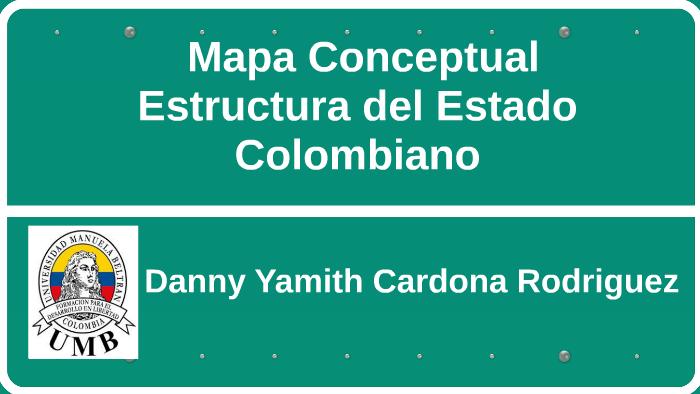 Mapa Conceptual Estructura Del Estado Colombiano By Danny