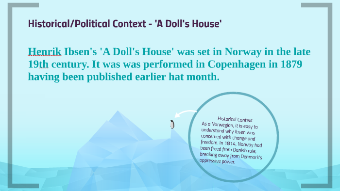 Historical/Political Context - 'A Doll's House' by Ted