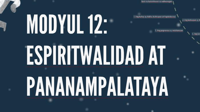 MODYUL 12: ESPIRITWALIDAD AT by coxy villon on Prezi
