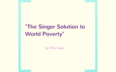 The singer solution summary reflection