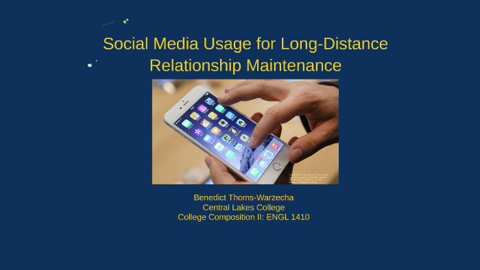 Social Media Usage for Long Distance Relationship Maintenanc by