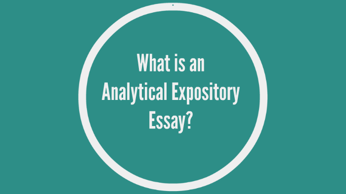 Analytical Expository Essay