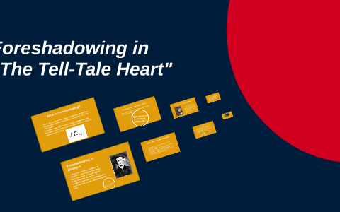 examples of foreshadowing in the tell tale heart