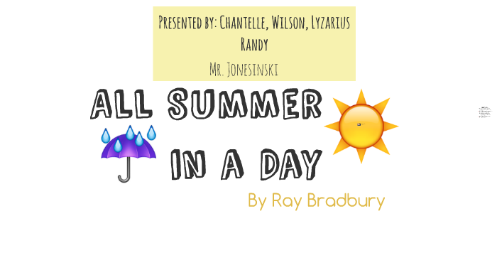 ray bradbury all summer in a day analysis