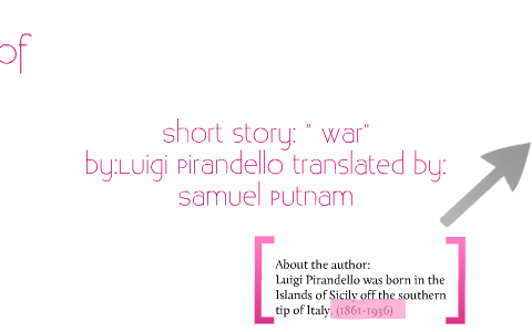 war by pirandello