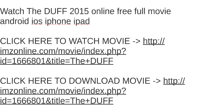 download the duff movie free
