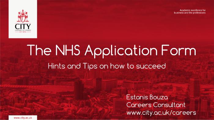 nhs application tips