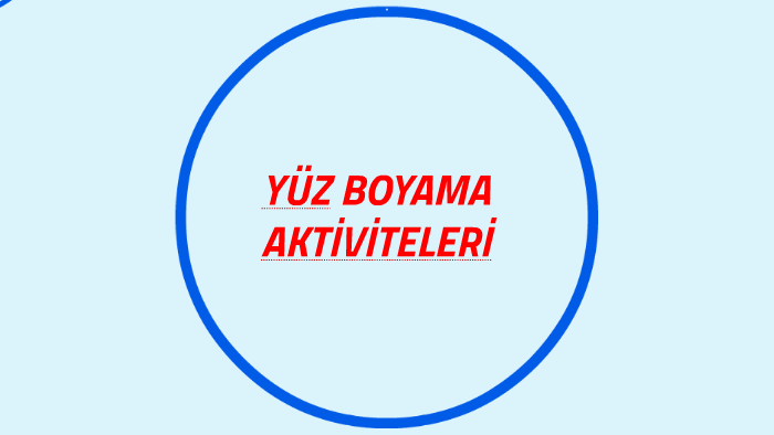 Yüz Boyama Aktiviteleri By Yunus Bilgin On Prezi