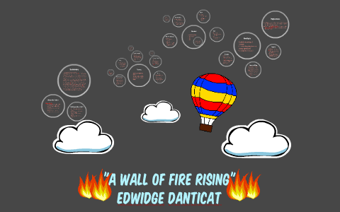 a wall of fire rising