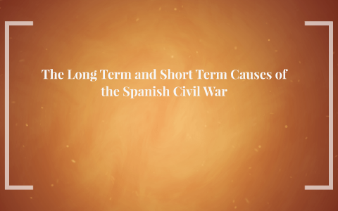 long term and short term causes of the civil war