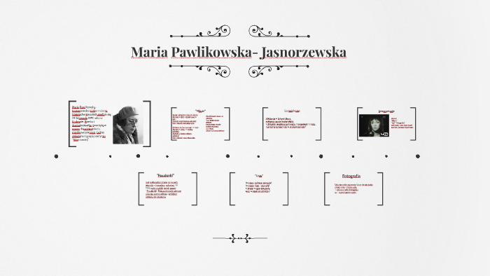 Maria Pawlikowska Jasnorzewska By Zemczak On Prezi