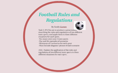 Football Rules And Regulations By Emily Gomm On Prezi