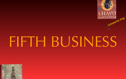 fifth business plot summary